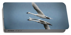 Pair Of Tundra Swan Portable Battery Charger