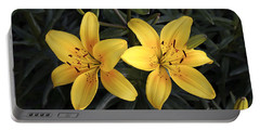 Pair Of Yellow Lilies Portable Battery Charger