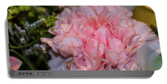 Pale Pink Carnation Portable Battery Charger