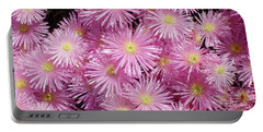 Pale Pink Flowers Portable Battery Charger by Mark Barclay