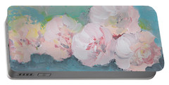 Pale Pink Peonies Portable Battery Charger