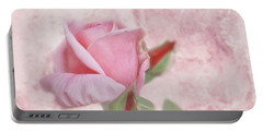 Pale Pink Rose Portable Battery Charger
