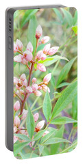 Pale Powder Pink Plant Portable Battery Charger