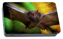 Portable Battery Charger featuring the photograph Pale Spear-nosed Bat In The Amazon Jungle by Al Bourassa