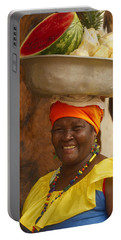 Palenquera In Cartagena Colombia Portable Battery Charger by David Smith