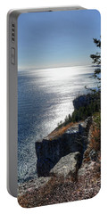 Palisade Head Lake Superior Minnesota Winter Afternoon Portable Battery Charger