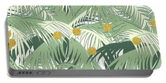 Palm And Gold Portable Battery Charger