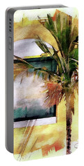 Palm And Window Portable Battery Charger by Robert Smith