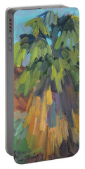 Portable Battery Charger featuring the painting Palm At Santa Rosa Mountains Visitors Center by Diane McClary