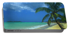 Palm Beach In The Keys Portable Battery Charger by David  Van Hulst