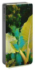 Portable Battery Charger featuring the painting Palm Branches by Mindy Newman