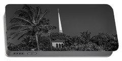 Palm Church Steeple Delray Beach Florida Portable Battery Charger