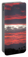 Portable Battery Charger featuring the photograph Palm Desert Sunset by Phyllis Kaltenbach