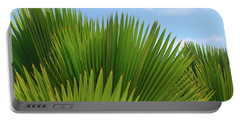 Palm Fans Portable Battery Charger by The Art of Alice Terrill