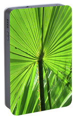 Portable Battery Charger featuring the photograph Palm Frond by Bonnie Muir