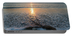 Palm Frond Coral Sunrise Wave Delray Beach Florida Portable Battery Charger