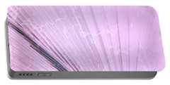 Palm Frond Pink Lh Portable Battery Charger
