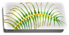 Palm Leaf Watercolor Portable Battery Charger