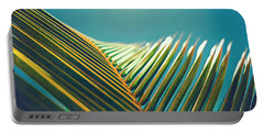 Palm Leaves In The Sun Portable Battery Charger