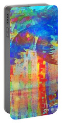 Portable Battery Charger featuring the painting Palm Party by Holly Martinson