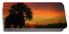 Palm Silhouette Sunrise Portable Battery Charger
