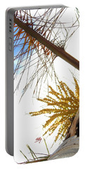 Palm Sky View Portable Battery Charger by Linda Hollis