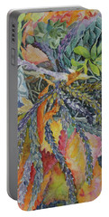 Portable Battery Charger featuring the painting Palm Springs Cacti Garden by Joanne Smoley