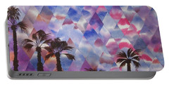 Palm Springs Sunset Portable Battery Charger by Jeni Bate