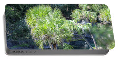 Palm Tree Blue Pond Portable Battery Charger