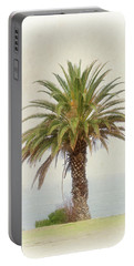Palm Tree In Coastal California In A Retro Style Portable Battery Charger