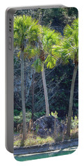 Portable Battery Charger featuring the photograph Palm Tree Island by Raphael Lopez