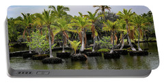 Portable Battery Charger featuring the photograph Palm Tree Islands by Pamela Walton