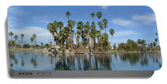 Palm Tree Reflections Portable Battery Charger