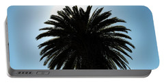 Palm Tree Silhouette Portable Battery Charger