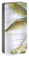 Portable Battery Charger featuring the digital art Palm Tree Study Three by Darren Cannell