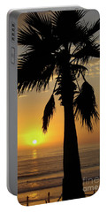 Palm Tree Sunset Portable Battery Charger by Jim And Emily Bush