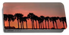 Portable Battery Charger featuring the photograph Palm Tree Sunset by Joel Witmeyer