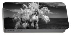 Portable Battery Charger featuring the photograph Palm Trees At Laguna Beach In Infrared Black And White by Randall Nyhof