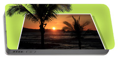 Palm Trees At Sunset Portable Battery Charger