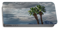 Portable Battery Charger featuring the photograph Palm Trees By Borrego Springs In The Anza-borrego Desert State Park by Randall Nyhof