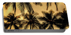 Palm Trees In Sunset Portable Battery Charger