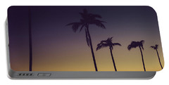 Palm Trees In The Morning Light Portable Battery Charger