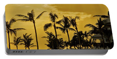 Portable Battery Charger featuring the photograph Palm Trees On Sunset Key At Sunset by Bob Slitzan