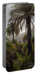 Palm Trees Portable Battery Charger by Patricia Hofmeester