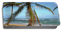 Palms And Sand Portable Battery Charger by Robert Och