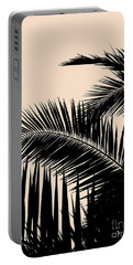 Palms On Pale Pink Portable Battery Charger