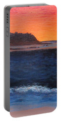 Portable Battery Charger featuring the painting Palos Verdes Sunset by Jamie Frier