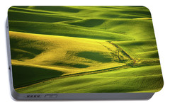 Portable Battery Charger featuring the photograph Palouse Shades Of Green by Dan Mihai