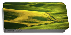 Palouse Shades Of Green Portable Battery Charger