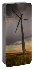 Palouse Windmill At Sunrise Portable Battery Charger by Chris McKenna
